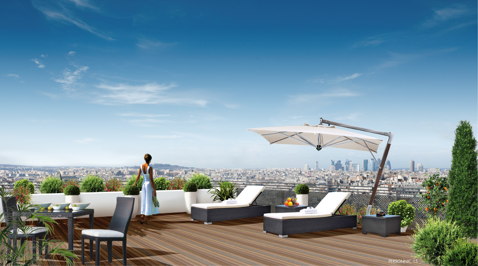 Vue int rieure terrasses grenouille crocodil studio for Agence immobiliere terrasse en vue