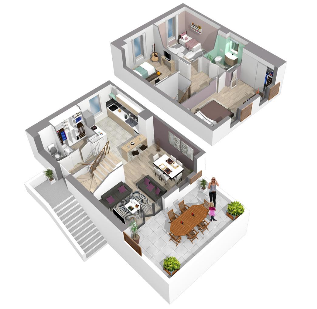 plan 3d grenouille crocodil studio aix en provence paris yann personnic. Black Bedroom Furniture Sets. Home Design Ideas